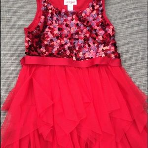 Size 4/5 Cat & Jack girls red holiday dress